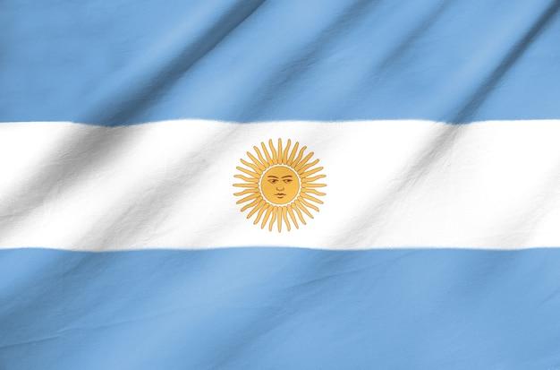 アルゼンチンのファブリック旗