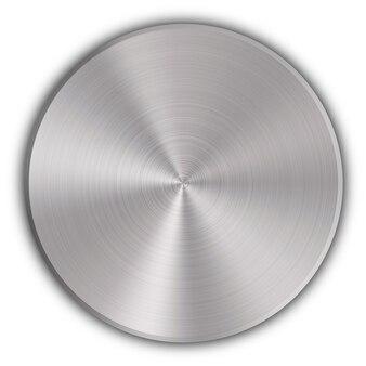円形のメタルボタン