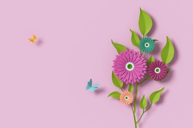 Цветочная бумага в стиле