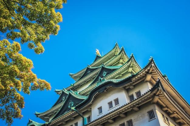 日本の名古屋城。世界に有名な