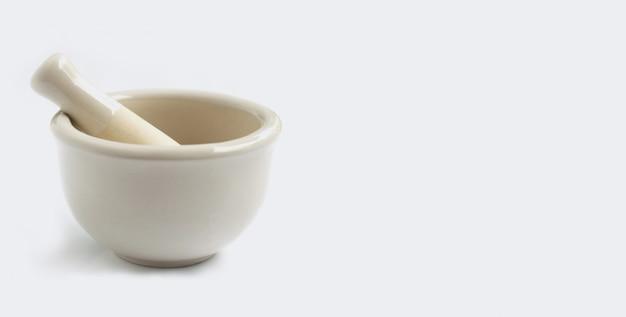 乳鉢と乳棒白