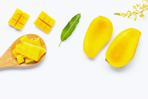 トロピカルフルーツ、白のマンゴー