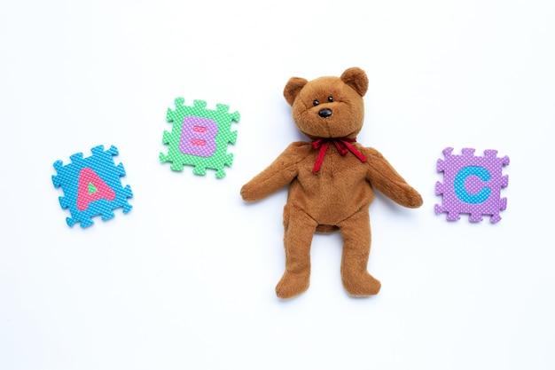 Пазл медведь с английским алфавитом
