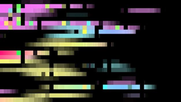 抽象的なグリッチピクセルの背景色。