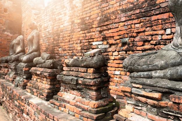 タイのアユタヤ県の遺跡