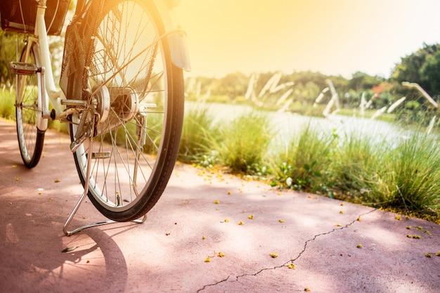 公共の公園で自転車