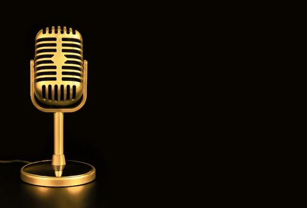 Ретро микрофон из золота