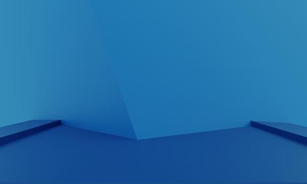 製品のプレゼンテーションのための抽象的な最小限の背景のモダンな空のショーケースのモックアップ