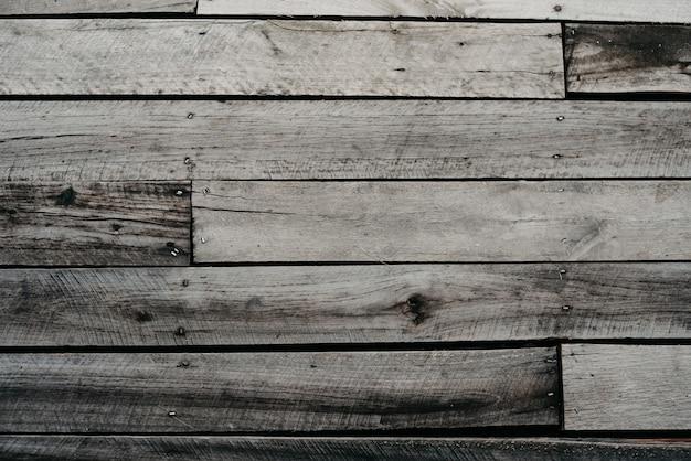 古い灰色の木の床
