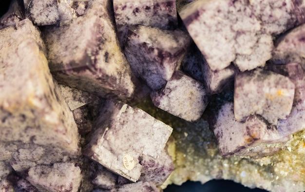 Флюоритовые минеральные кристаллы