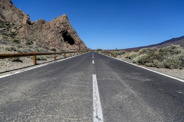 テネリフェ島のテイデ国立公園の風景、スペイン