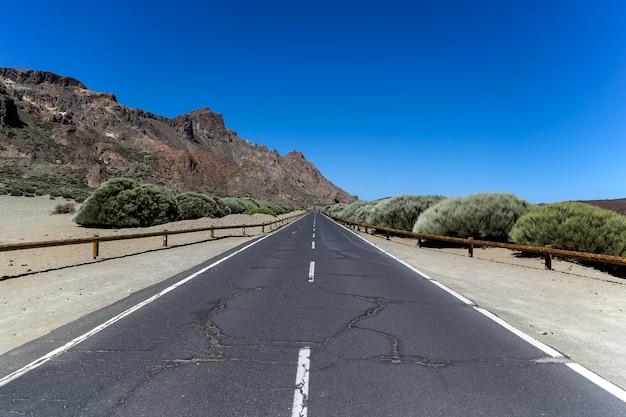 テイデ国立公園、スペインの道を見る