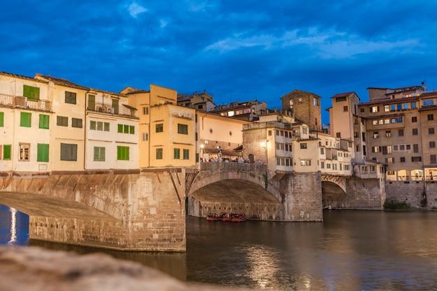 Мост понте веккио ночью