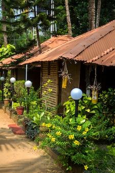 ケララ州、インドのバルカラのバンガロー