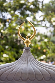 Золотая крыша дворца топкапы в стамбуле, турция