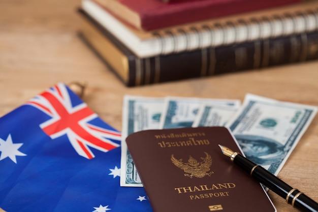 オーストラリアの教育の概念、オーストラリアの旗のパスポート