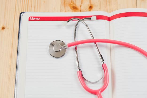 健康記録のためのメモ帳と健康に良いことを思い出させる。