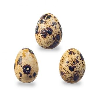 背景に新鮮なウズラの卵。食品と健康の概念。