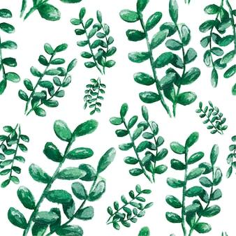 水彩サボテンと多肉植物のシームレスな背景。テキスタイル、ファブリック、パターンの水彩イラスト。