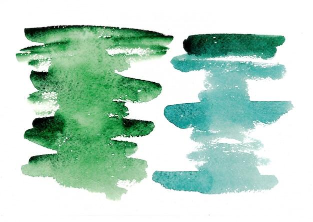 カラフルな水彩ブラシストローク。水彩絵の具。