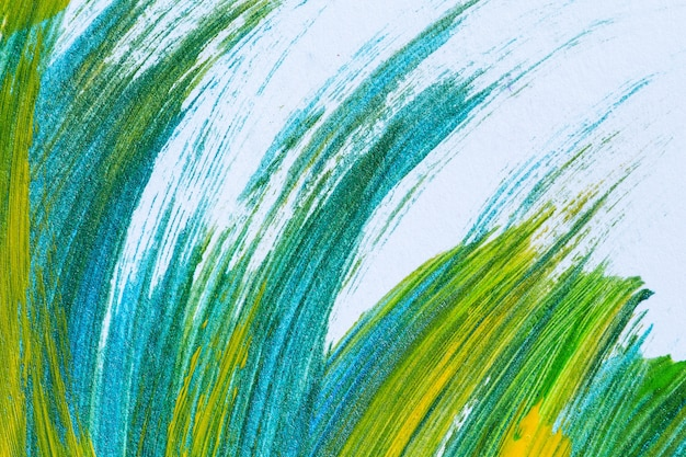 Мазками красочная акриловая краска на холсте, цветная текстура. современное современное искусство