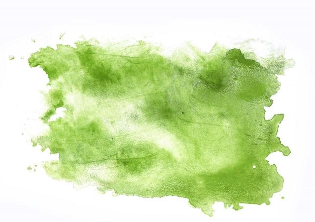 Абстрактная рука рисует акварельные мазки на бумаге