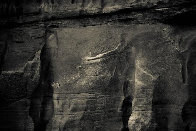 メコン川の横にある美しい背景の岩の峡谷