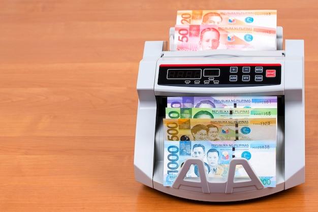 計数機でフィリピンからのお金