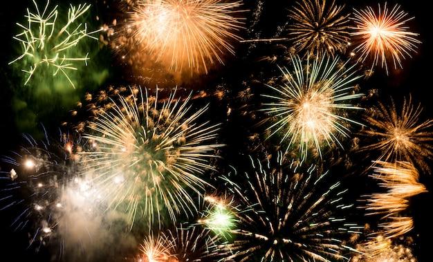 新年の花火、新年の願い