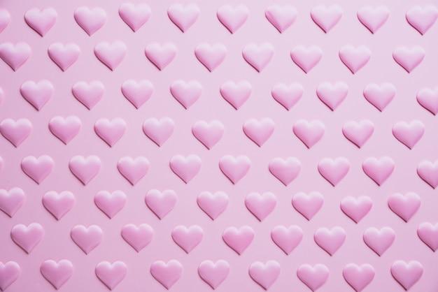 День святого валентина и концепция любви. фон розовые сердца.