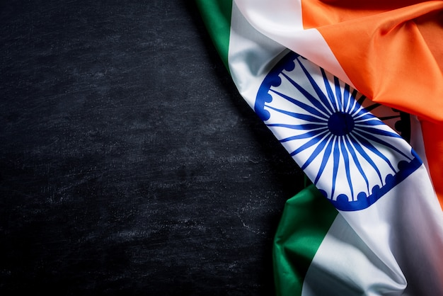 Национальный флаг индии на доске