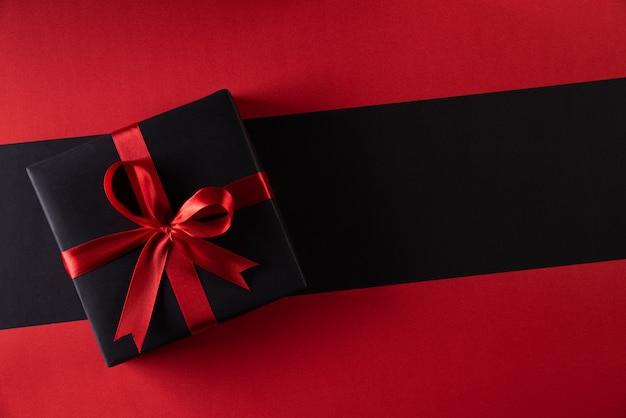 コピーの背景にクリスマスボックス。ブラックフライデーとボクシングデー