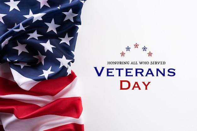 退役軍人の日のアメリカの国旗