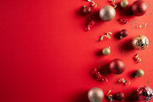 赤のクリスマス装飾コンセプト
