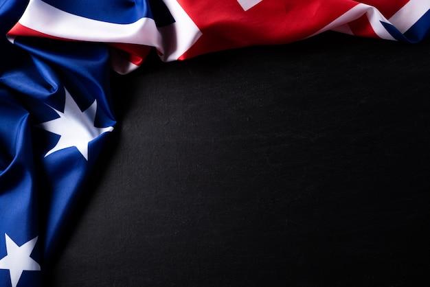 オーストラリアの日の概念。オーストラリアの旗