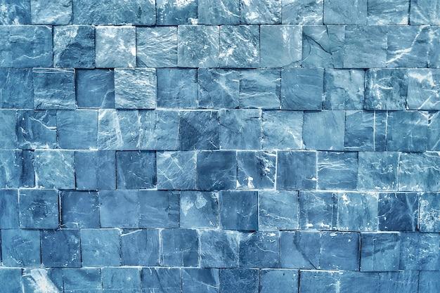 青レンガの壁紙の背景。