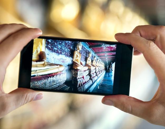 旅行旅行休暇カメラ写真の記憶カップルの概念