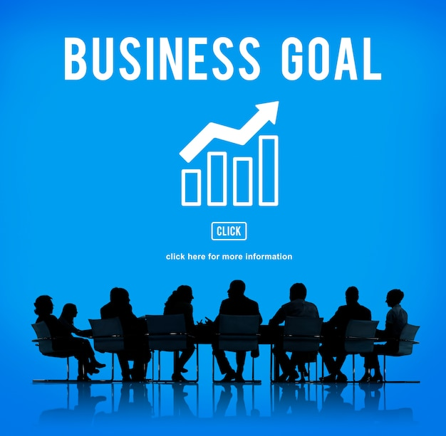 ビジネス成功報告グラフのコンセプト