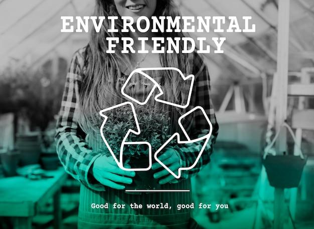 Экологичный зеленый значок