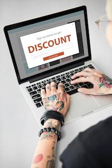割引セールショッピングオンラインインターネット