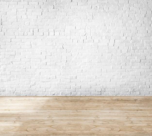 Номер из кирпичной стены и деревянного пола
