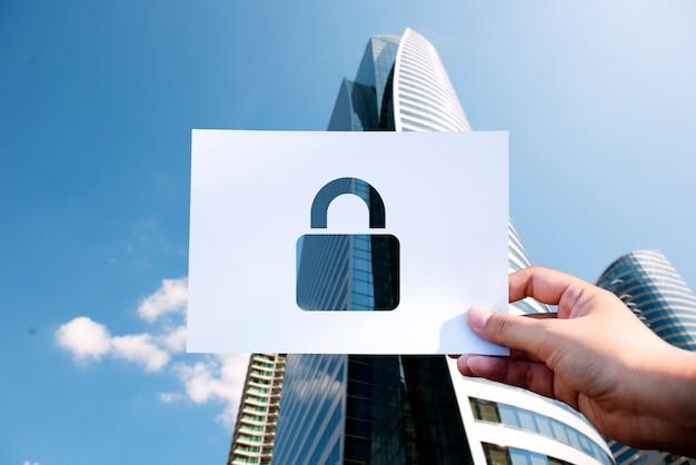 ネットワークセキュリティシステム穴あき紙パドロック