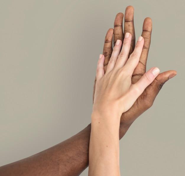 Концепция человеческого фона ручной руки