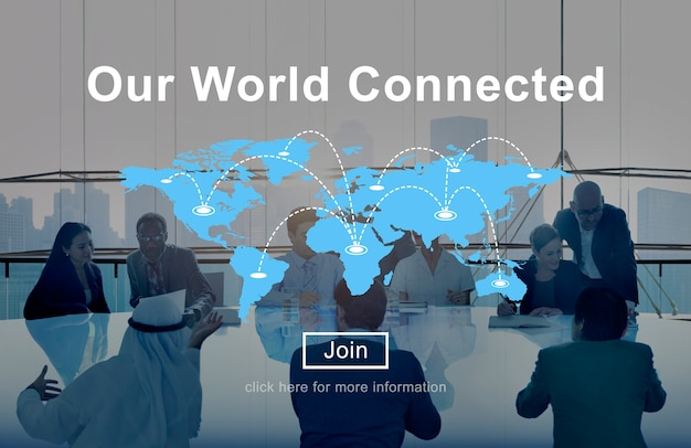 Концепция взаимосвязи социальных сетей в мире
