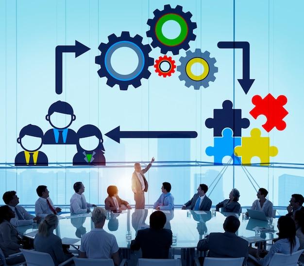 チームチームワークコラボレーション企業コンセプト