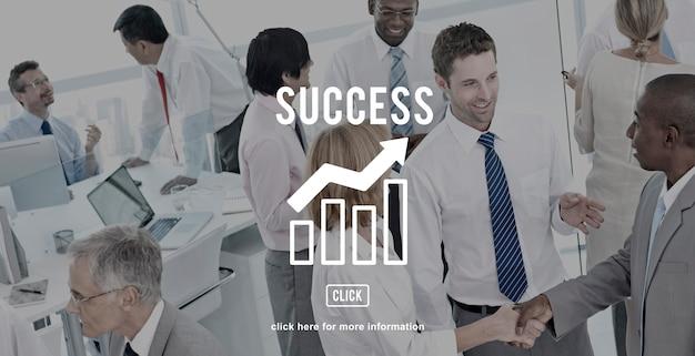 ビジネス進捗レポートグラフのコンセプト