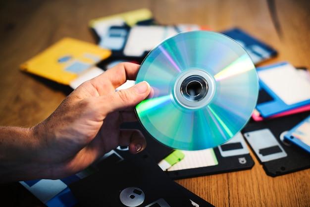 ディスクとフロッピーディスク