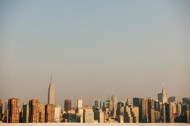 ニューヨーク市の昼間の眺め