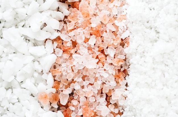 混合塩のクローズアップ