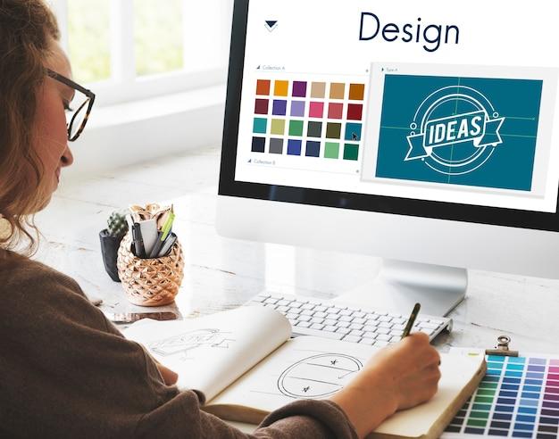 クリエイティブなインスピレーションのロゴコンセプト